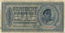 100 Karbowanez UKRAINE  1942 P.055 B