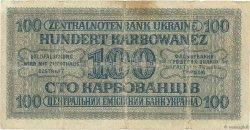 100 Karbowanez UKRAINE  1942 P.055 pr.TB