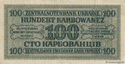 100 Karbowanez UKRAINE  1942 P.055 TB+