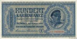 100 Karbowanez UKRAINE  1942 P.055 TTB
