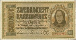200 Karbowanez UKRAINE  1942 P.056 TTB