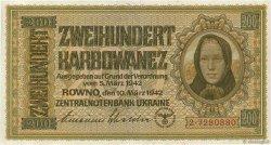 200 Karbowanez UKRAINE  1942 P.056 pr.NEUF