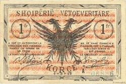 1 Franc ALBANIE  1917 PS.142a TTB