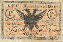 1 Franc ALBANIE  1917 PS.144a B+