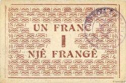 1 Franc ALBANIE  1917 PS.146b SUP
