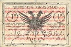 1 Franc ALBANIE  1917 PS.146c TB