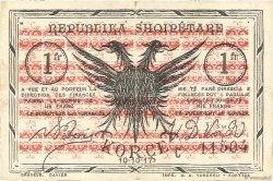 1 Franc ALBANIE  1917 PS.146c TTB