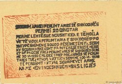 20 Qindtar ALBANIE  1920 PS.173 SPL