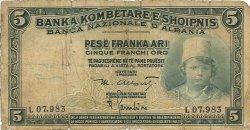 5 Franka Ari ALBANIE  1926 P.02a B