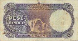 5 Franka Ari ALBANIE  1926 P.02b TTB