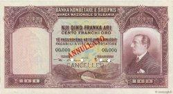 100 Franka Ari ALBANIE  1926 P.04s SPL