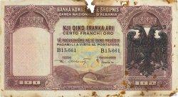 100 Franka Ari ALBANIE  1939 P.05 B+