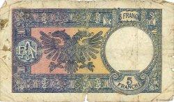 5 Franga ALBANIE  1939 P.06a AB