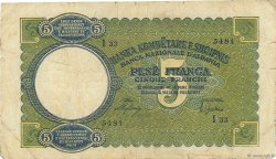 5 Franga ALBANIE  1939 P.06a TB