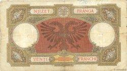 20 Franga ALBANIE  1939 P.07 B+