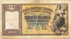 100 Franga ALBANIE  1940 P.08 B+