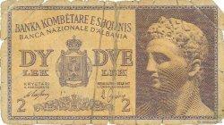 2 Lek ALBANIE  1940 P.09 AB
