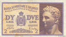 2 Lek ALBANIE  1940 P.09 TTB