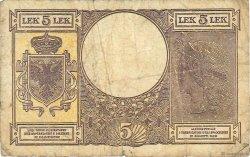 5 Lek ALBANIE  1940 P.10 B