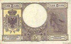 5 Lek ALBANIE  1940 P.10 TTB