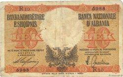 10 Lek ALBANIE  1940 P.11 B+
