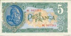 5 Franga ALBANIE  1945 P.15 pr.NEUF