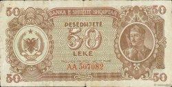 50 Lekë ALBANIE  1947 P.20 TB