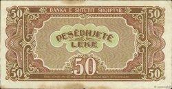50 Lekë ALBANIE  1947 P.20 TTB