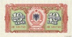 10 Lekë ALBANIE  1957 P.28a pr.NEUF