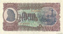 1000 Lekë ALBANIE  1957 P.32a SUP
