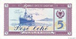 5 Lekë ALBANIE  1976 P.42a NEUF