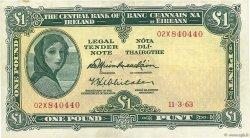 1 Pound IRLANDE  1963 P.064a TTB