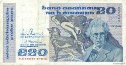 20 Pounds IRLANDE  1987 P.073c TB à TTB