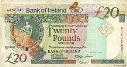 20 Pounds IRLANDE DU NORD  1991 P.072a TB+