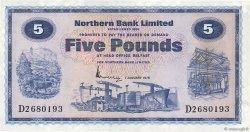 5 Pounds IRLANDE DU NORD  1976 P.188c SUP