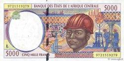 5000 Francs GABON  1997 P.404Lc TTB+