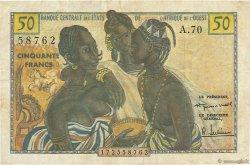50 Francs AFRIQUE OCCIDENTALE FRANÇAISE (1895-1958)  1958 P.001 TTB