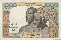 1000 Francs AFRIQUE OCCIDENTALE FRANÇAISE (1895-1958)  1959 P.004 pr.TTB