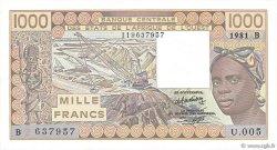 1000 Francs BÉNIN  1981 P.207Bb SPL