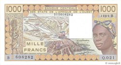 1000 Francs BÉNIN  1989 P.207Bh pr.NEUF