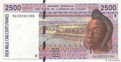 2500 Francs BÉNIN  1994 P.212Bc NEUF