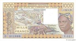1000 Francs MALI  1989 P.406Di SPL