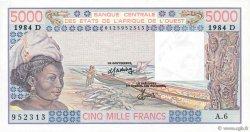 5000 Francs MALI  1984 P.407Dd NEUF
