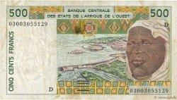 500 Francs MALI  2003 P.410Dn TTB
