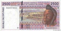 2500 Francs MALI  1994 P.412Dc NEUF