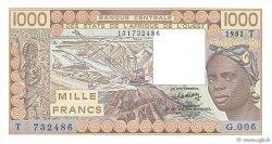 1000 Francs TOGO  1981 P.807Tb NEUF