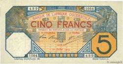 5 Francs DAKAR AFRIQUE OCCIDENTALE FRANÇAISE (1895-1958)  1919 P.05Ba pr.SPL