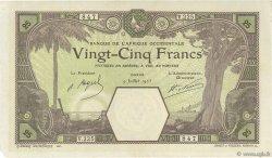 25 Francs DAKAR AFRIQUE OCCIDENTALE FRANÇAISE (1895-1958)  1925 P.07Bb SUP