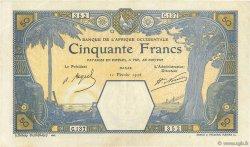 50 Francs DAKAR AFRIQUE OCCIDENTALE FRANÇAISE (1895-1958)  1926 P.09Bb TTB+