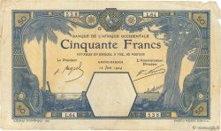 50 Francs GRAND-BASSAM AFRIQUE OCCIDENTALE FRANÇAISE (1895-1958) Grand-Bassam 1924 P.09Db TB+